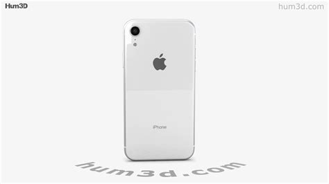 apple iphone xr white 3d model by hum3d