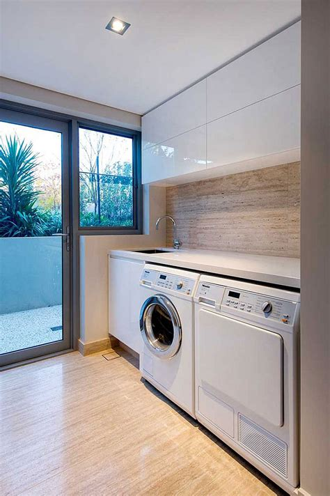 laundry room designer contemporary salter point house by mountford architects