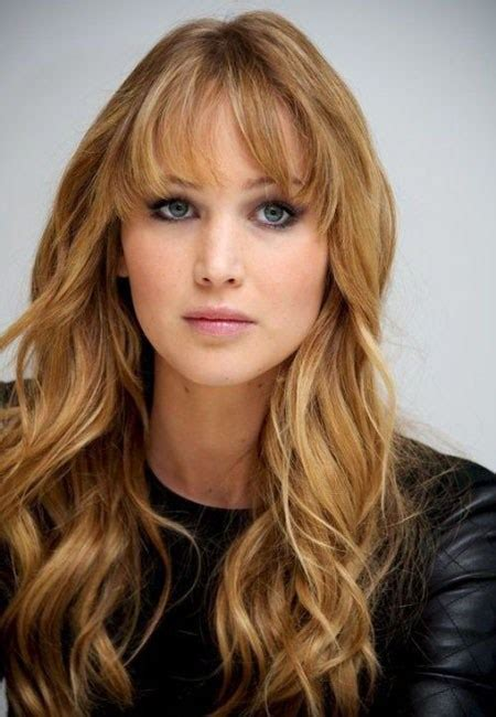 long layered hsir with waves around face long hairstyles with bangs for round faces hairstylesco