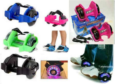 Ig 2603 Sepatu Sleting R other hobbies small whirlwind pulley detachable roller skates with led light was sold for r99