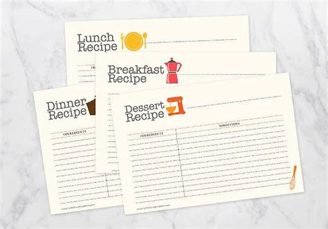 recipe card psd template printable card template 9 free psd vector ai eps