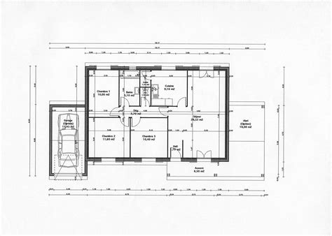 Plan De Maison Gratuit by Plan De Maison Moderne Gratuit Mc Immo