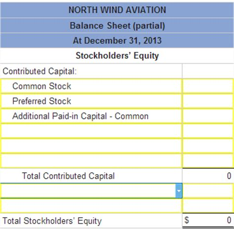 prepare the stockholders equity section of the balance sheet north wind aviation received its charter during ja