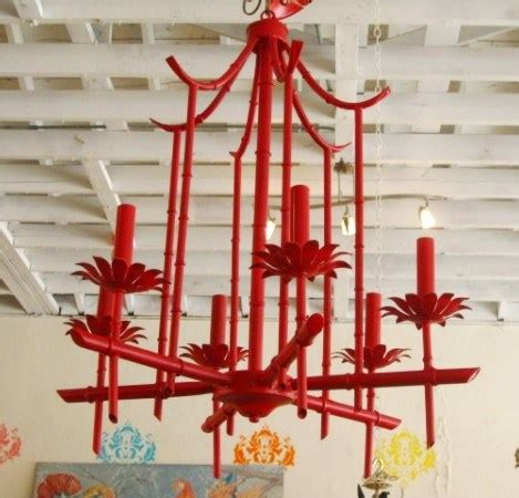White Tole Metal Pagoda Chandelier Shop Vogue Vintage At Circa Who In West Palm Cococozy