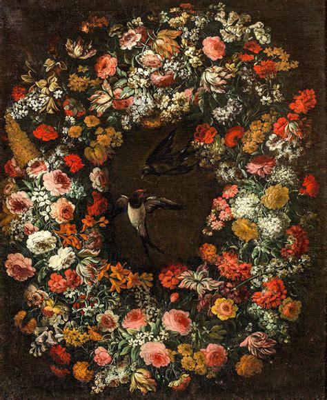 ghirlande fiori grande ghirlanda di fiori con due rondini niccol 242 stanchi