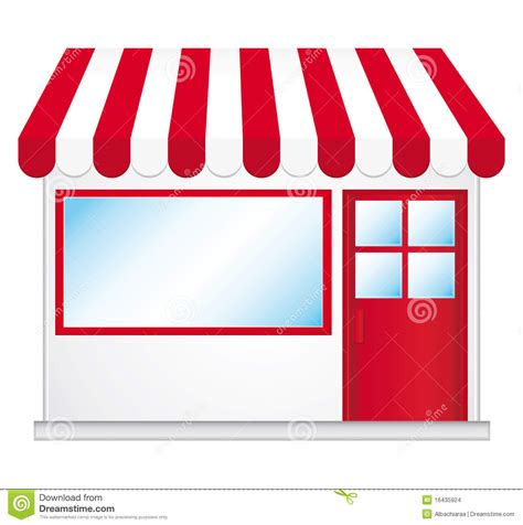 Terrace Awnings Cute Shop Icon Stock Images Image 16435924