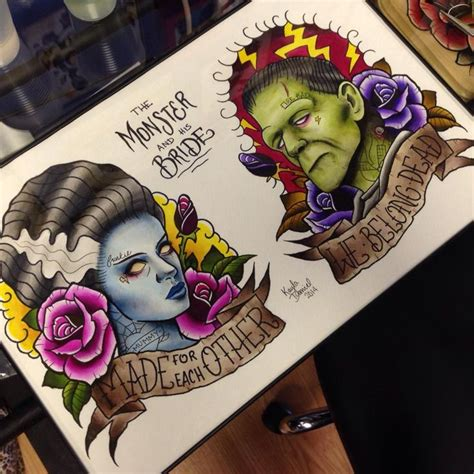 bride of frankenstein tattoo designs 17 migliori idee su frankenstein su
