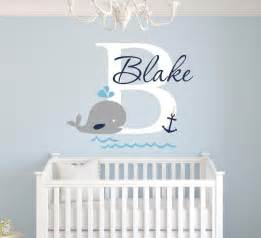 Custom Wall Decal Stickers Custom Whale Name Wall Decal Nursery Wall Decals Boys