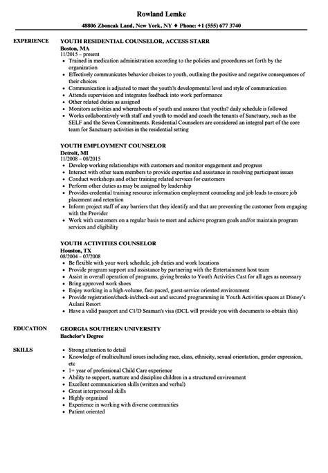 sample resume for counselor juvenile counselor resume counseling