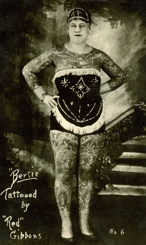 tattoo lady history newberry digital exhibitions bertie tattooed by red gibbons