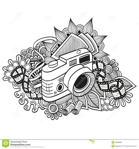 draw doodle doodle stock vector illustration of retro