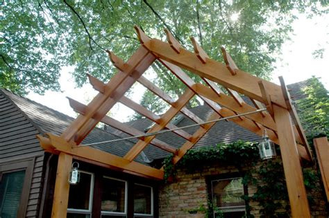 a frame pergola outdoor living with a pergola and lattice on a