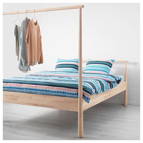 Standard King Bed Frame Gj 214 Ra Bed Frame Birch L 246 Nset Standard King Ikea