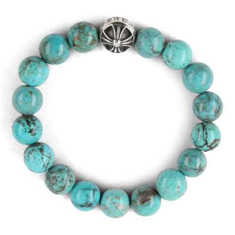 Chrome Hearts CH CROSSBALL TURQUOISE BEAD BRACELET   Chrome Hearts Online Store