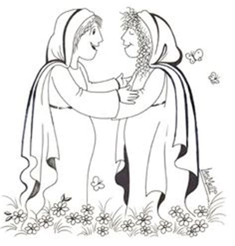 mary and elizabeth bible coloring page bible craft