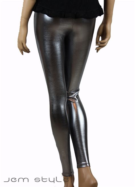 Glossy Legging comfort faux leather liquid glossy look