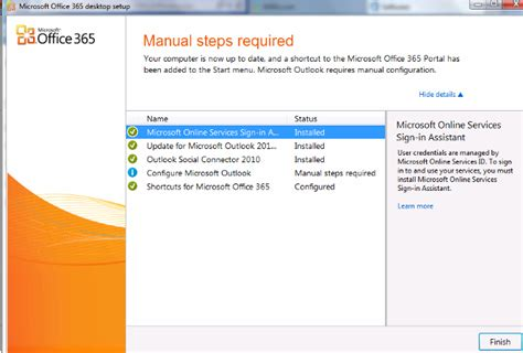 Office 365 Outlook 2007 How To Run Office 365 Settings And Install Outlook 2007