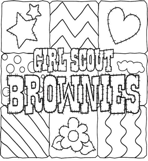 Girl Scout Cookies Coloring Pages For Kids Gs Coloring Scout Brownie Coloring Pages