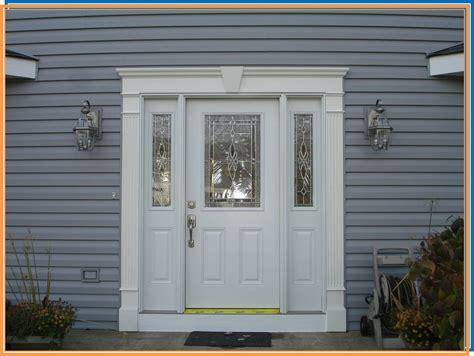 Exterior Doors With Sidelites Fiberglass Entry Door With Decorative Glass And Sidelites Yelp