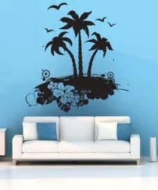 Dinosaurs Murals Walls vinyl wall decal sticker tropical island art 1224