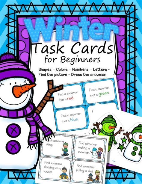 card for beginners task cards for beginners winter