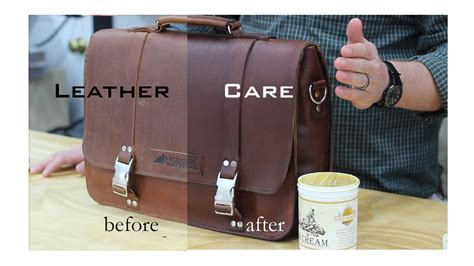 tutorial how to care for your leather bag