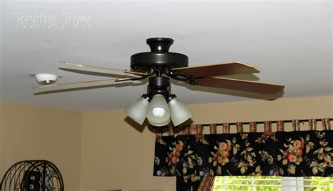 How To Paint A Ceiling Fan by Updating A Ceiling Fan With A Paint Tempting Thyme