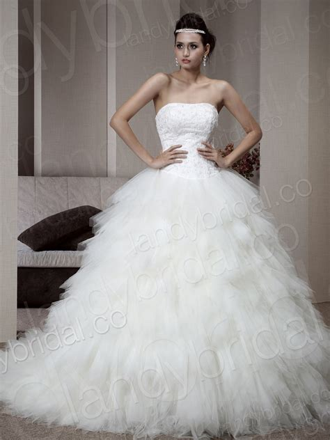 elegant strapless corset wedding ball gowns