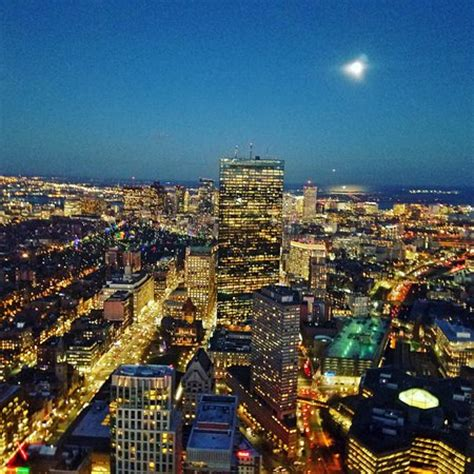 Boston Top D vista da cidade de boston foto di top of the hub boston