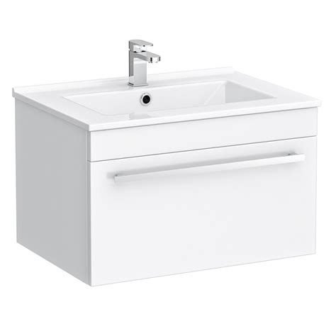white wall mounted l wall hung vanity sink with cabinet 600mm modern