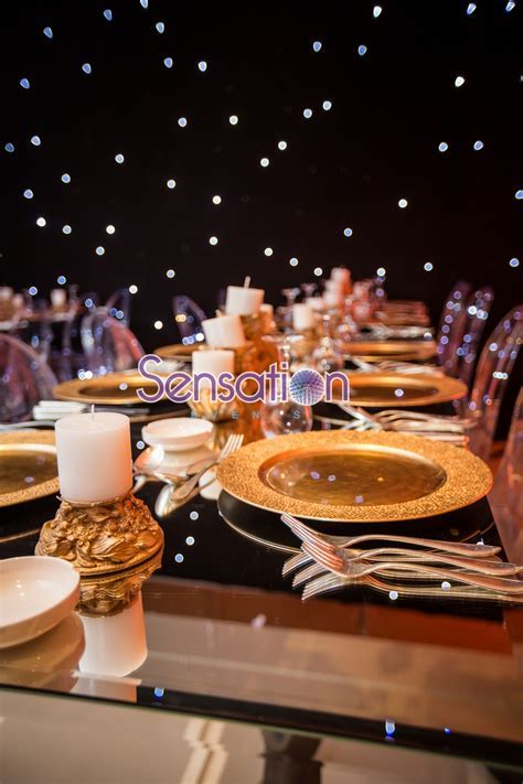 Black and Gold Engagement Party   Arabia Weddings