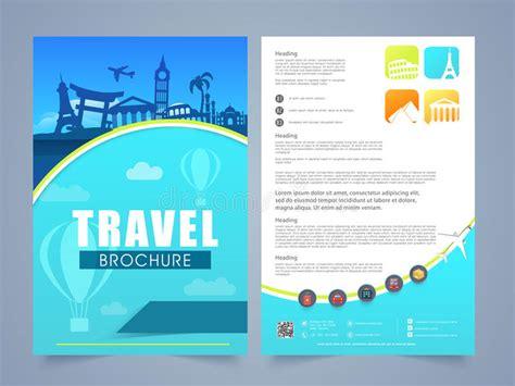Travel Brochure Design by Travel Brochure Template Or Flyer Design Stock