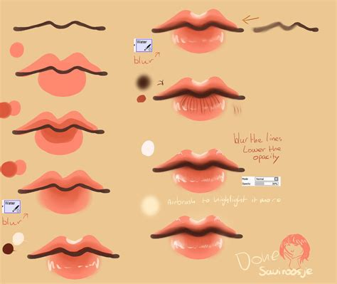 www tutorial step by step lip tutorial by saviroosje on deviantart