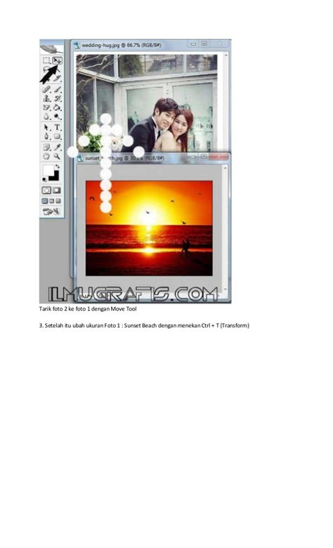 cara membuat poster menggunakan photoshop cs2 foto wedding efek blending poster film