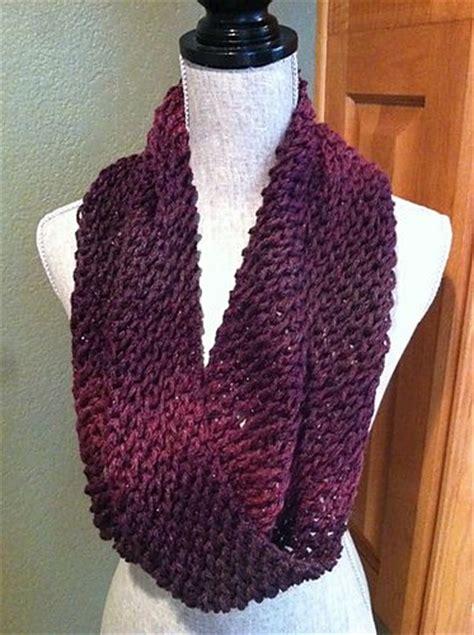 knit infinity scarf   sts  stitches   yarn