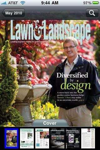 lawn landscape magazine app for ipad iphone