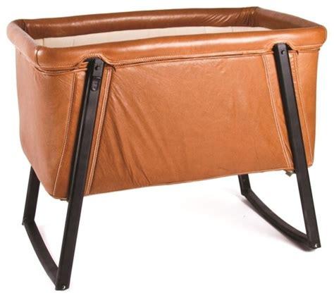 Babyhome Crib by Babyhome Premium Portable Crib In Leather Cribs By Modernnursery