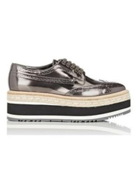 womens prada sneakers on sale prada prada s leather platform espadrille wingtip