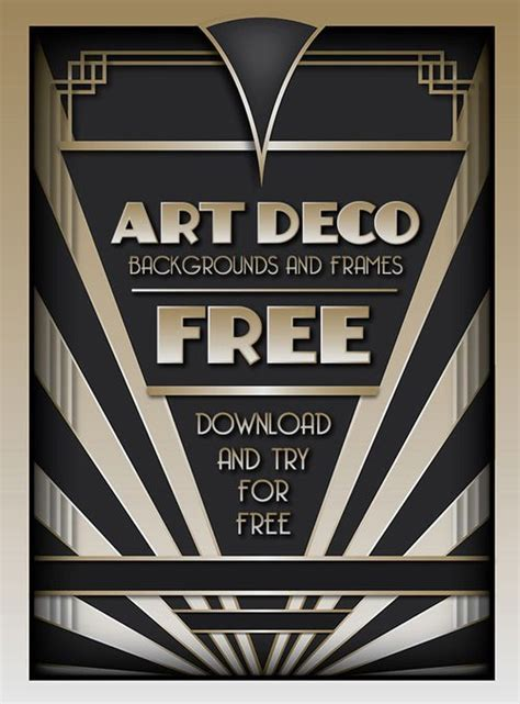 1920s invitation template free and try the best selling deco backgrounds and