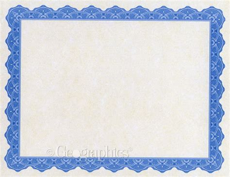 blue certificate template simple border blue award certificate template