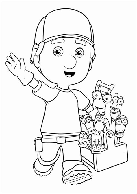 Handy Manny Coloring Pages Coloring Pages To Print Handy Manny Coloring Pages