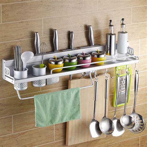 Hanging Aksesoris space aluminum kitchen utensils hanging rack shelving rack turret tool holder kitchen spice rack