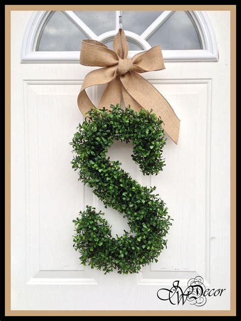 Monogram Wreath For Door by Monogram Wreath Wreaths Year Wreath Door Arificial