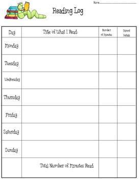 free printable reading logs with summary 1000 ideas