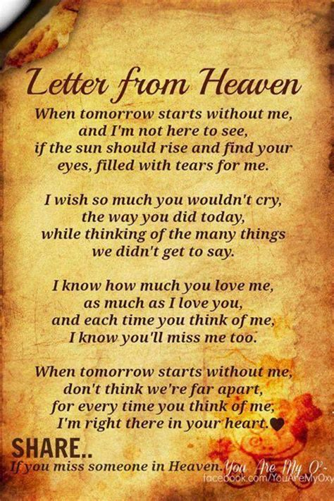 missing   heaven quotes pinterest  years letter  heaven  mom