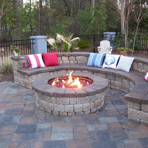 Backyard Patios With Pits by Custom Gas Burning Firepit With Glass Coastroad