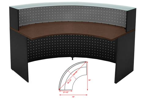 Circular Reception Desk Semi Circular Glass Top Reception Desk