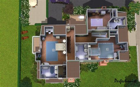 Housing Floor Plans Free by Mod The Sims The Emerald House No Cc