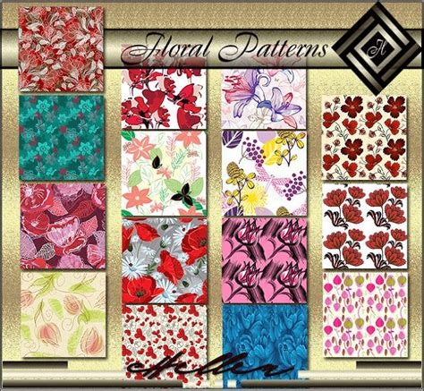 Custom Flowers Pattern 1 hellen sims3 floral patterns sims 3 downloads patterns