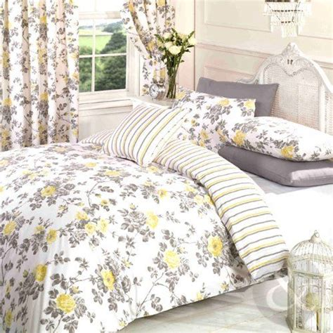 gray floral bedding vintage floral duvet cover poly cotton print bedding bed quilt cover set yellow